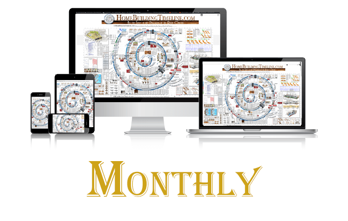 MONTHLY Subscription to Home Building Timeline (auto-renews, monthly)
