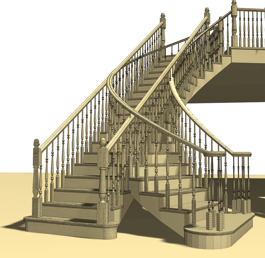 Staircase Space: Curved vs Straight
